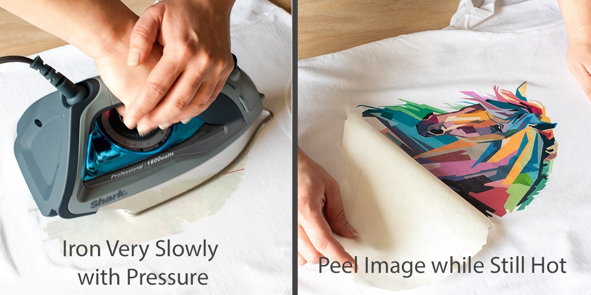 Demonstration of Ironing Photo Transfer and Peeling the Backing off.