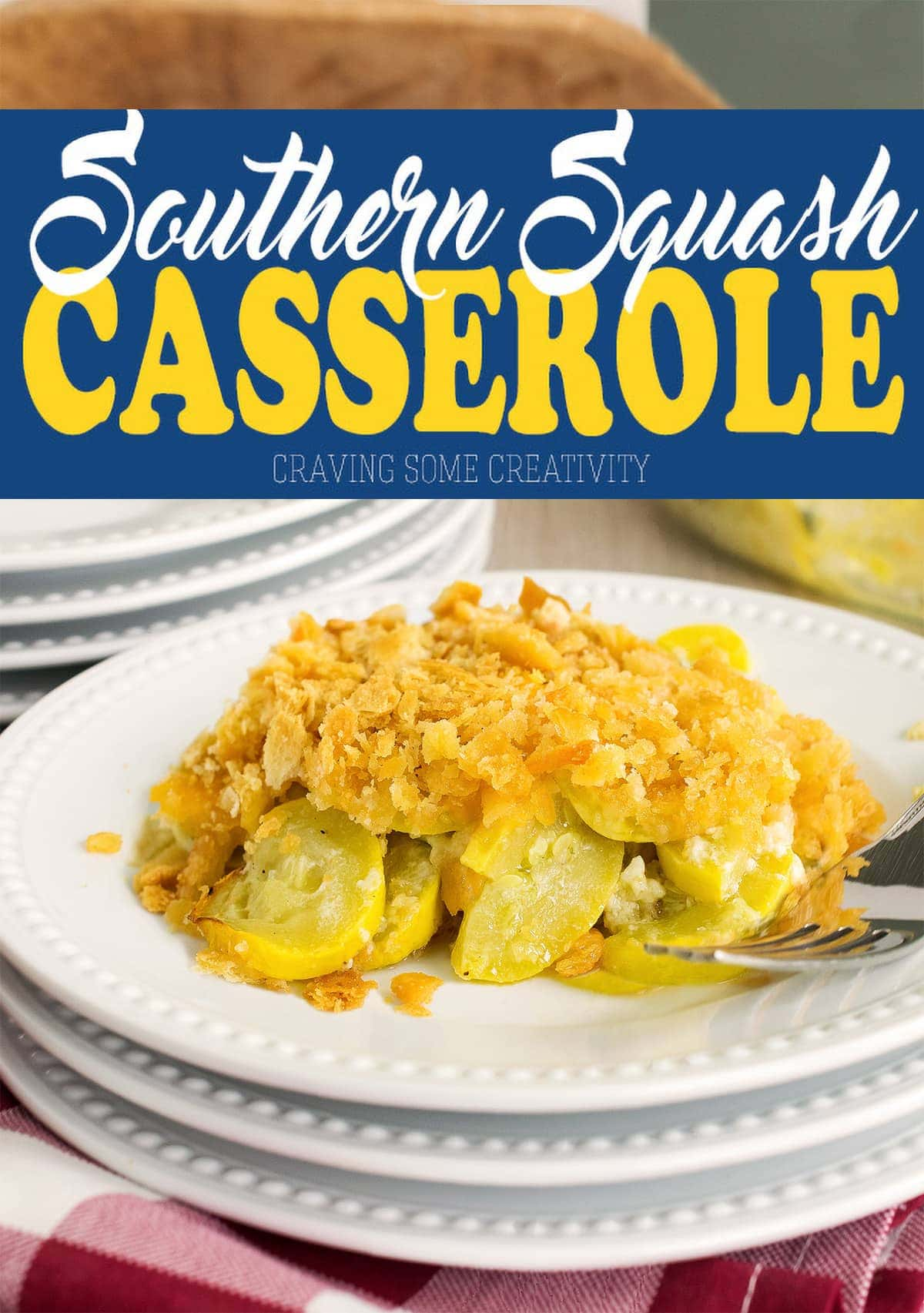 This buttery and delicious southern Squash Casserole is perfect for holidays, bbqs, and any get together you have planned. The crushed ritz cracker topping is perfect with the sweet and tender yellow squash.