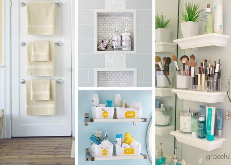 Small Bathroom Organization Ideas: how to organize bathroom