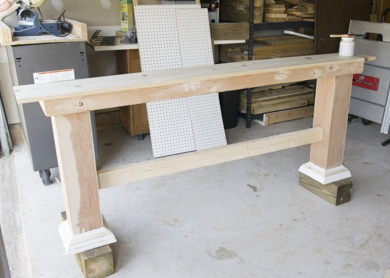 Building a console table for behind the couch