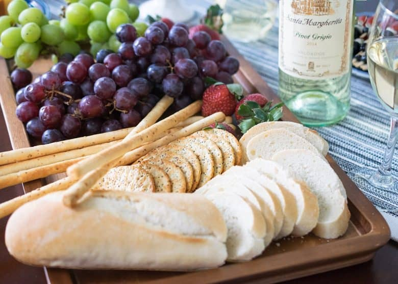 Wine party and no cook dinner ideas! A simple buffet table with no cook goodies and easy ideas for your next girls night or tasting party.