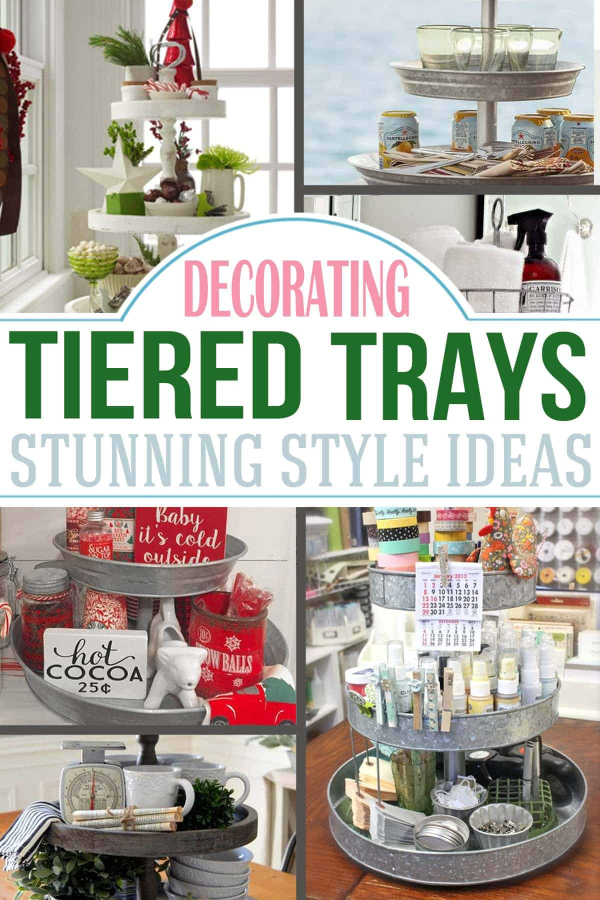 3 Tier Serving Trays Decorating Ideas Craving Some Creativity