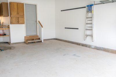 Old garage floor before painting.