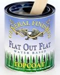 Can of General Finishes Flat out Flat water based top coat