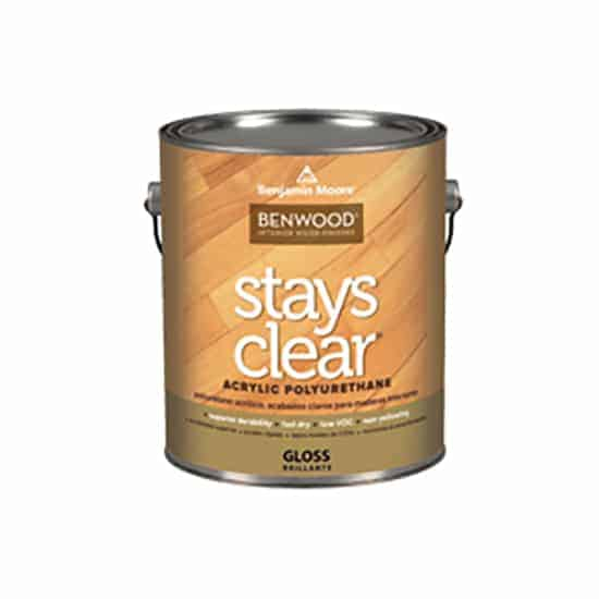 Benjamin Moore Stays Clear Polyurethane Can.
