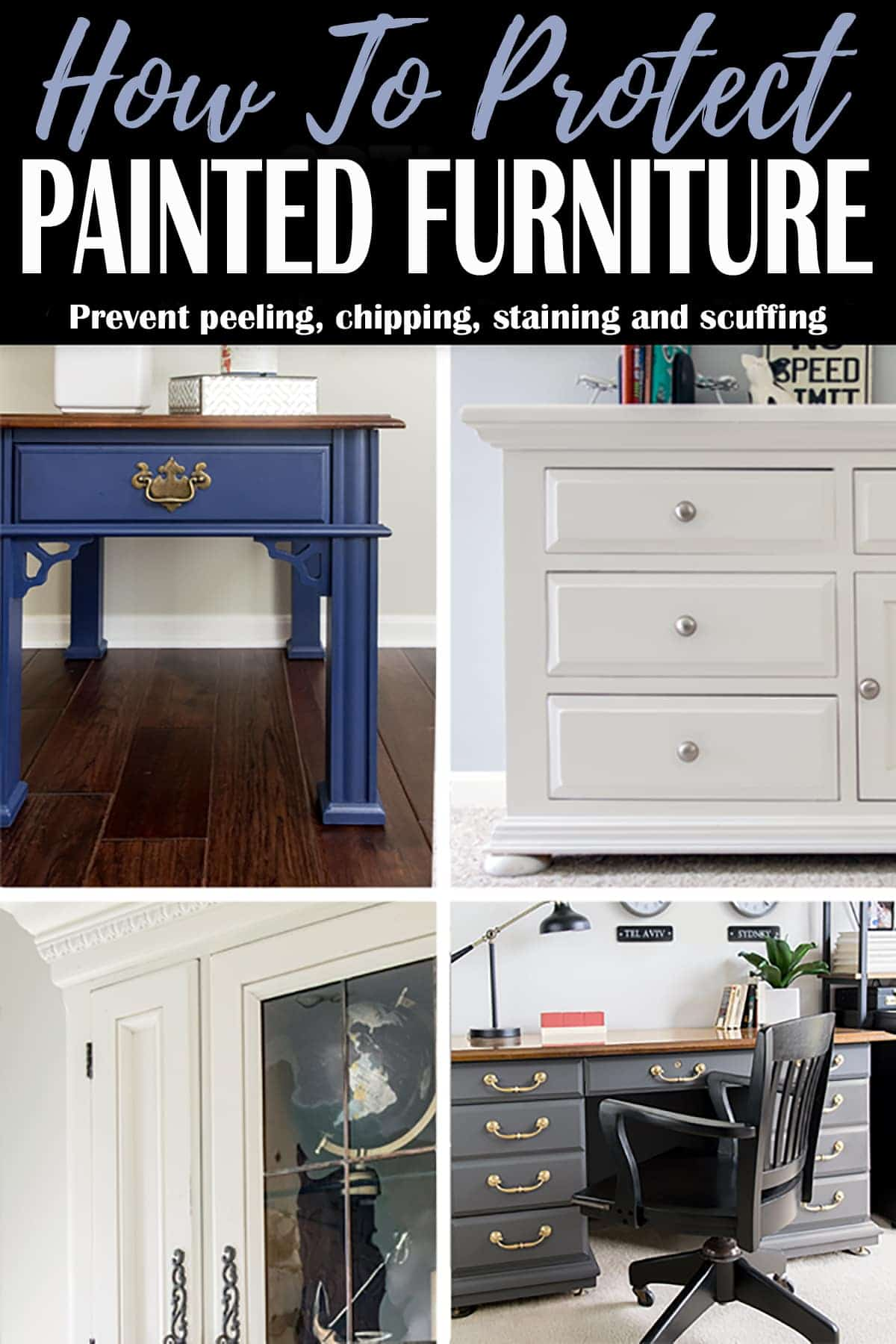 Various durable topcoat paint options for protecting DIY furniture projects