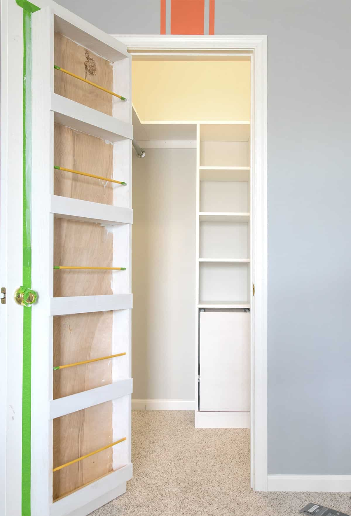 Custom Closet after priming and building