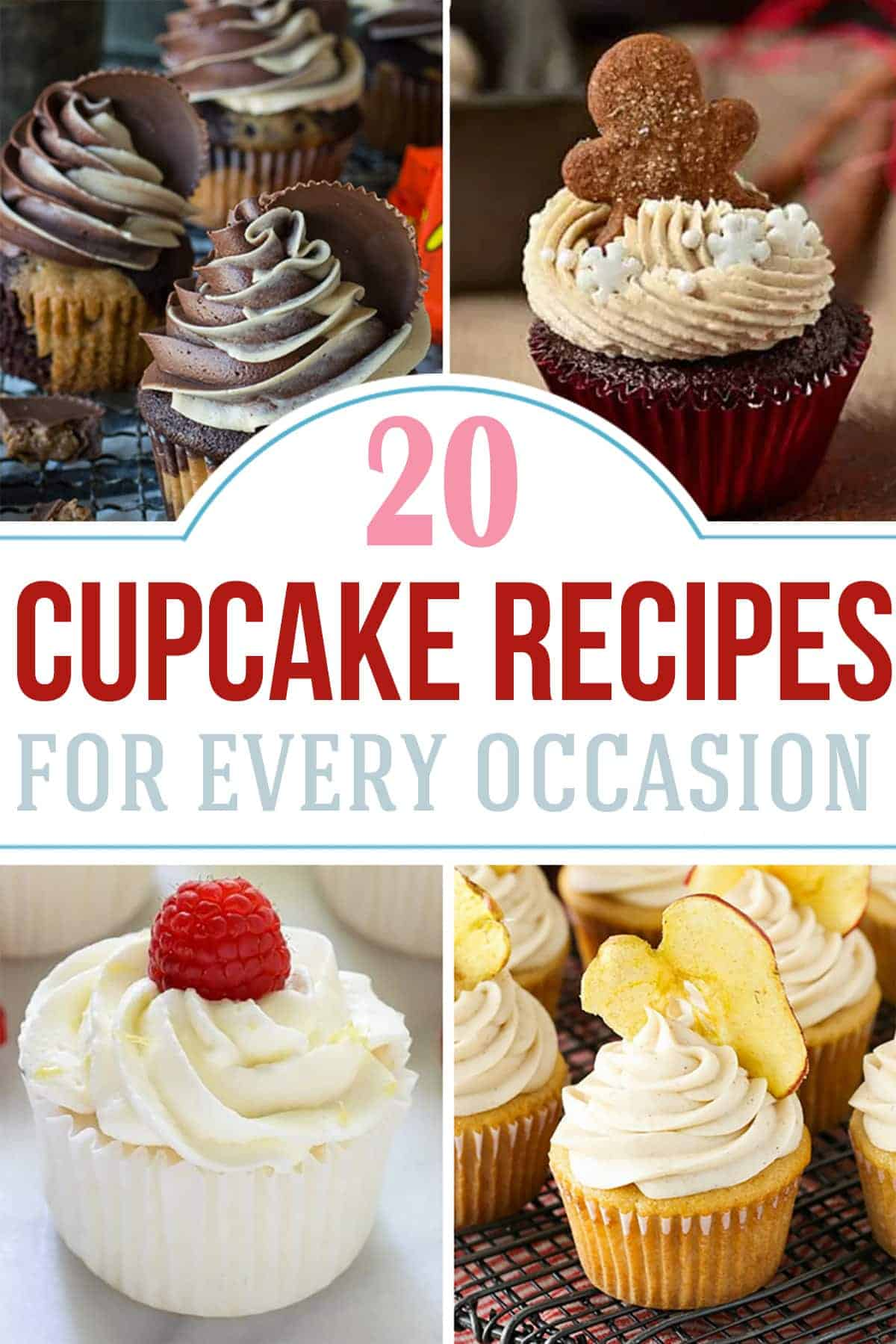 Multiple delicious and adorable cupcake recipe batches with post title