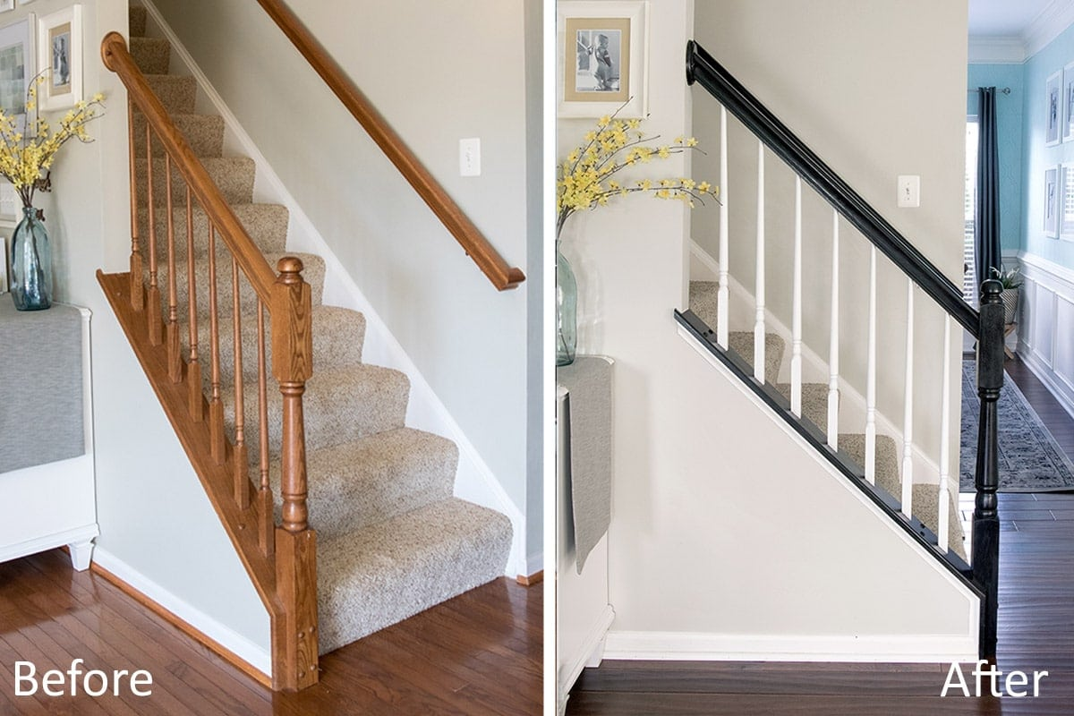 How To Paint Stair Railings The Durable Way Craving Some Creativity