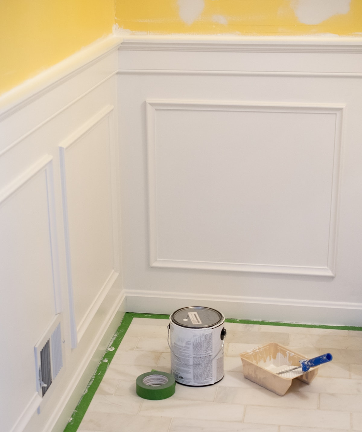Painting and Installing Wainscoting