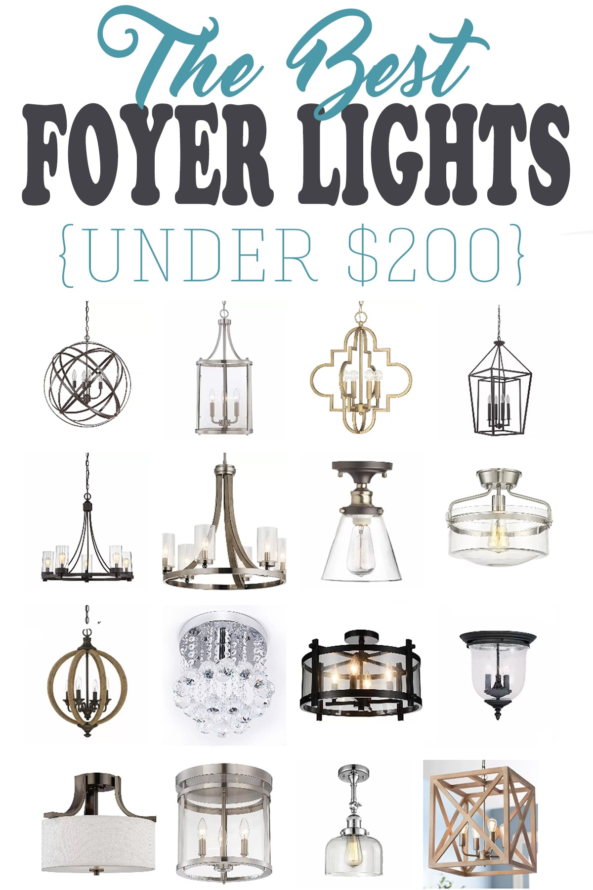 15 of the best entryway lighting fixtures for a small budget. These foyer lights and chandeliers are showstoppers