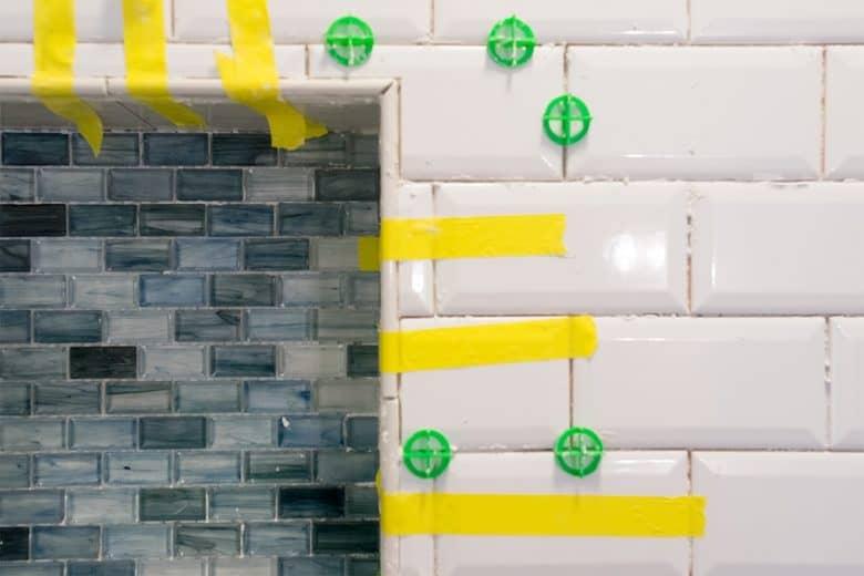 Grouting Beveled Subway Tiles