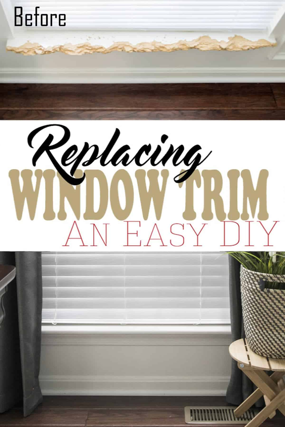 How to Repair the Interior Window Sill and Trim -