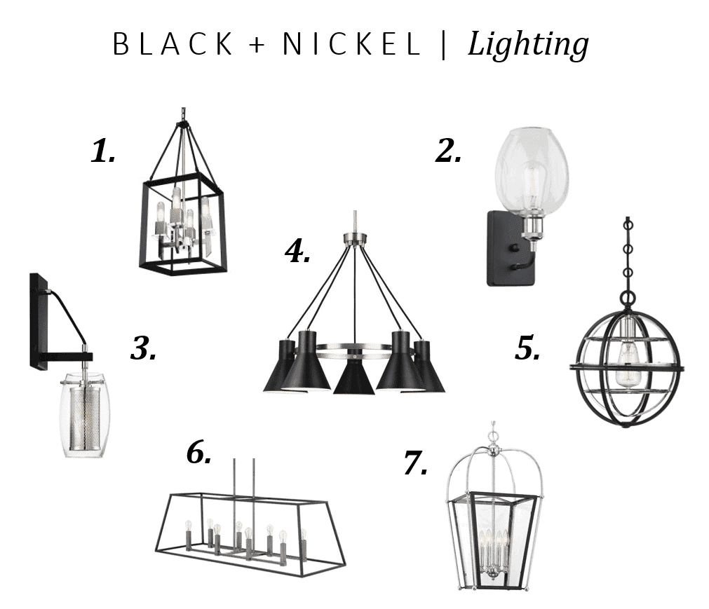 Black & Nickel Lighting Fixtures collection for inspiration