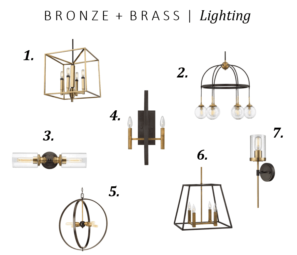 Bronze and Brass Light Fixtures collection