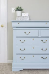 Beautiful Baby Blue Dresser Makeover with Fusion Mineral Little Whale