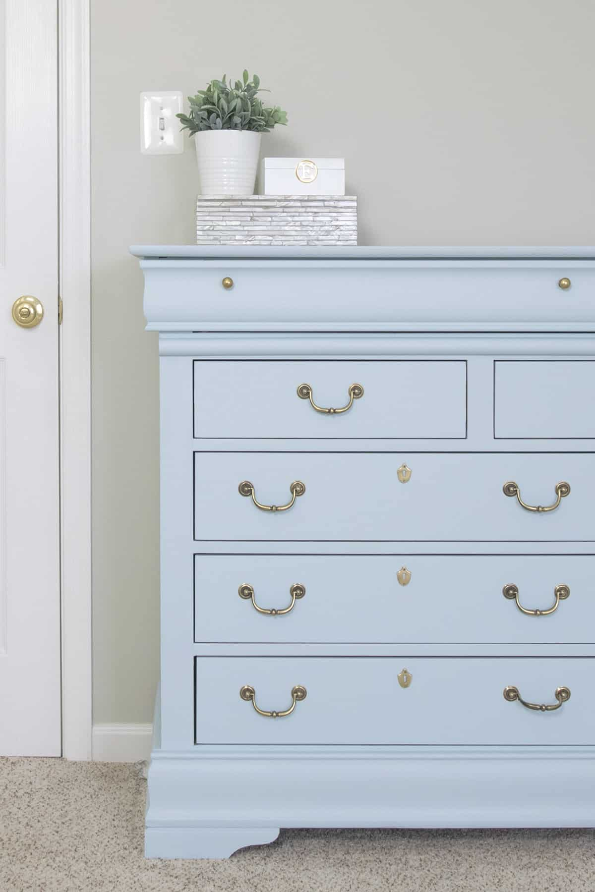 Blue Dresser Makeover With Fusion Mineral Little Whale