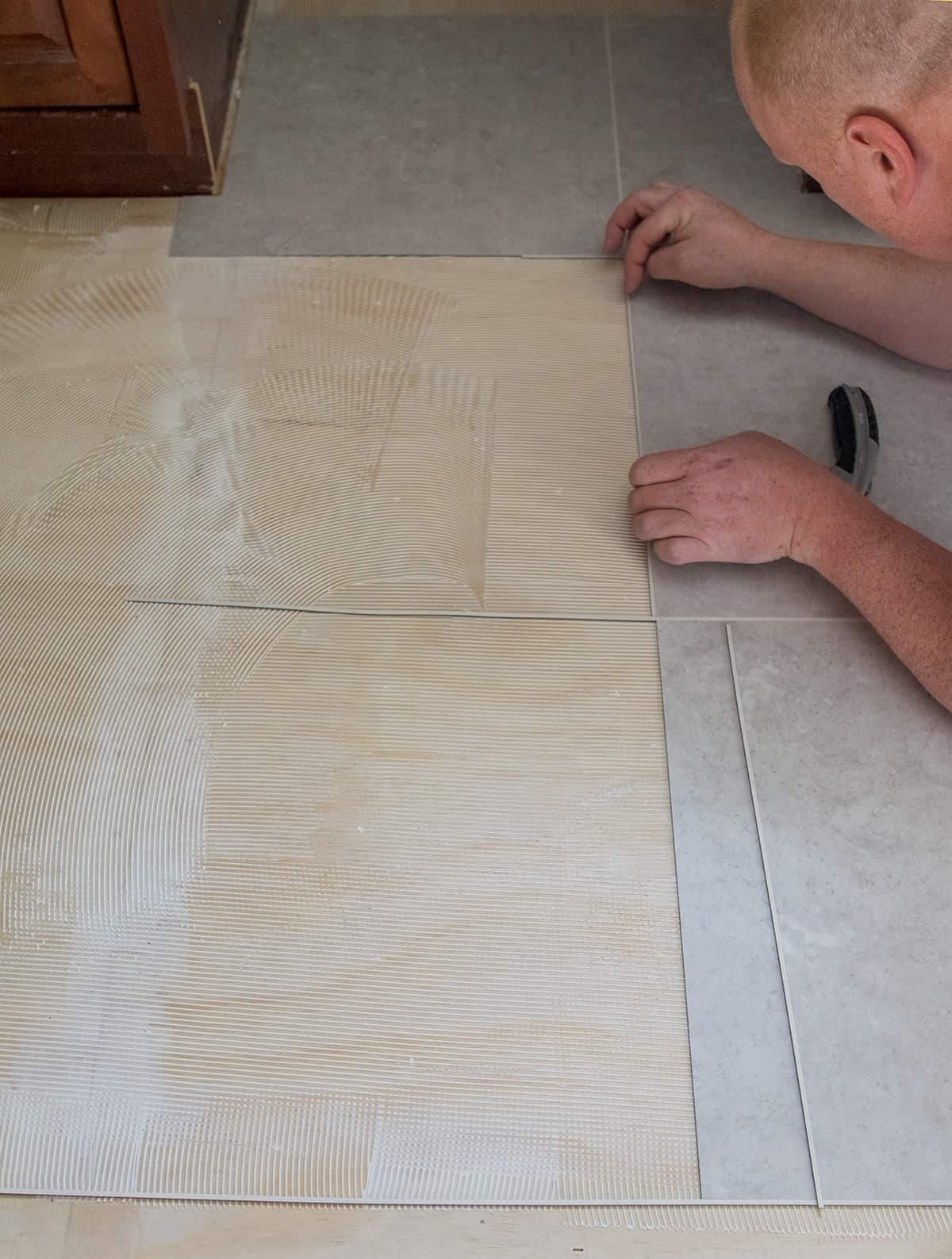 Why We Chose Luxury Vinyl Tile For Our Kitchen Floors