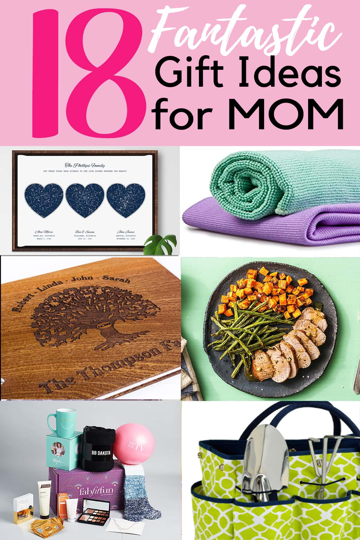 Multiple Mother's day gift ideas with post title