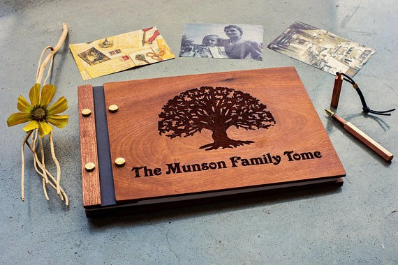 Custom Wooden Photo Book for family memory keeping