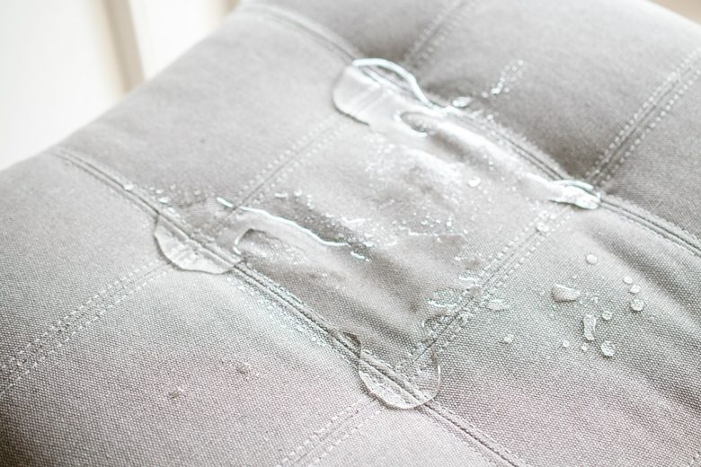 waterproof fabric - water beading on fabric