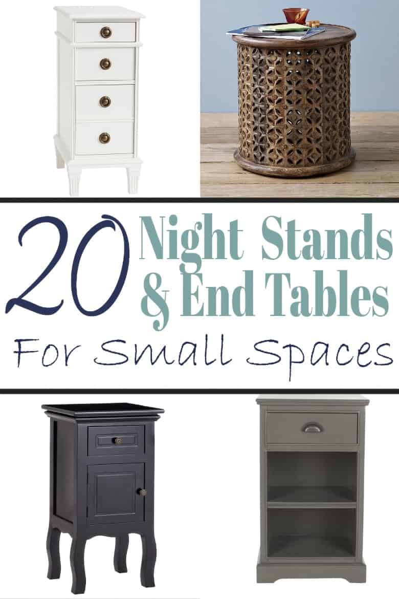 Nightstand and end tables for small spaces photo montage and title