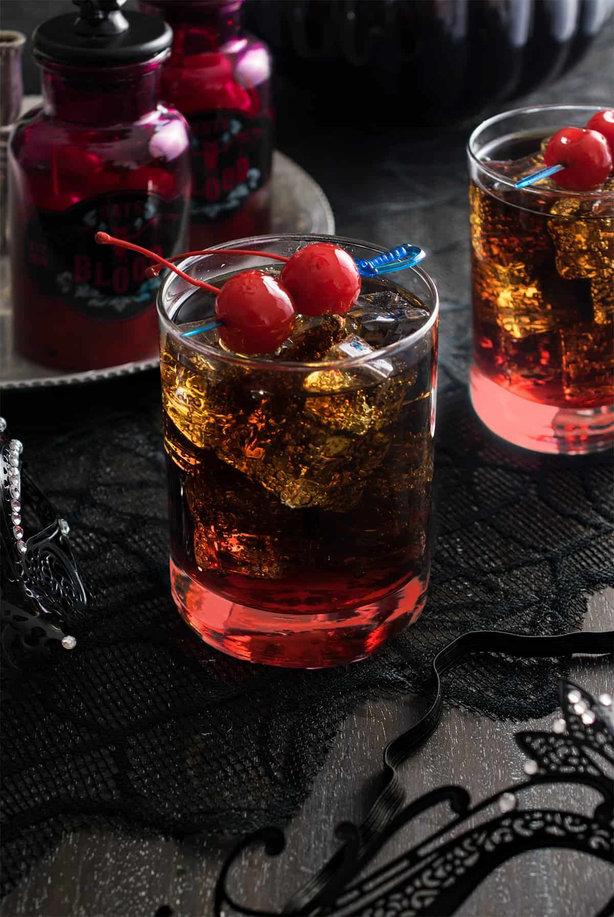 Rum and Coke Halloween Cocktail