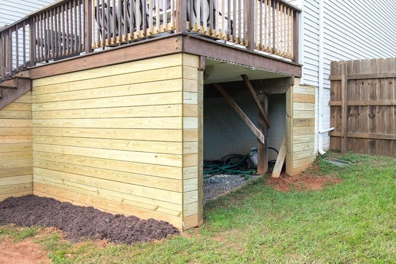 How We Added A Shed Under The Deck
