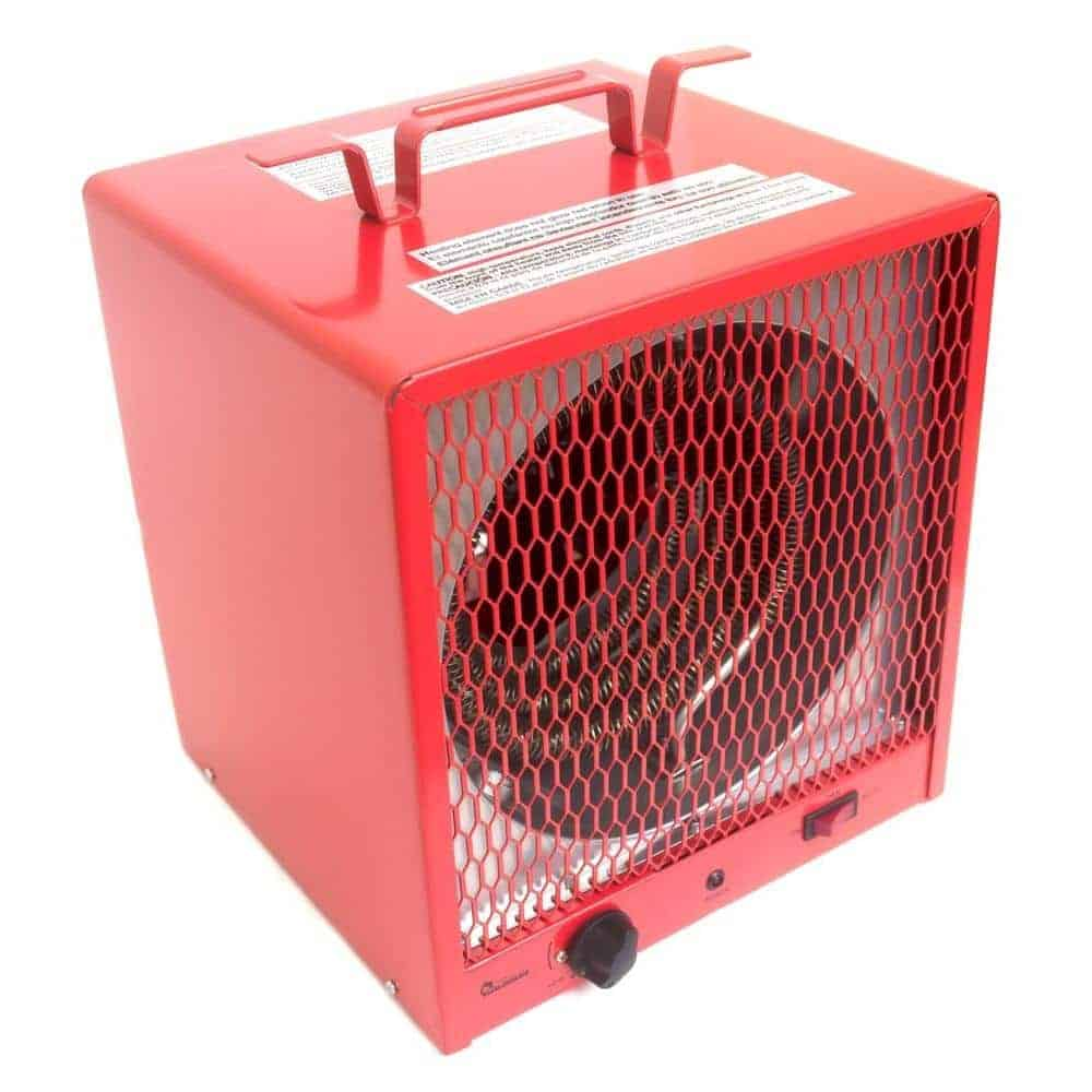 Red portable space heater