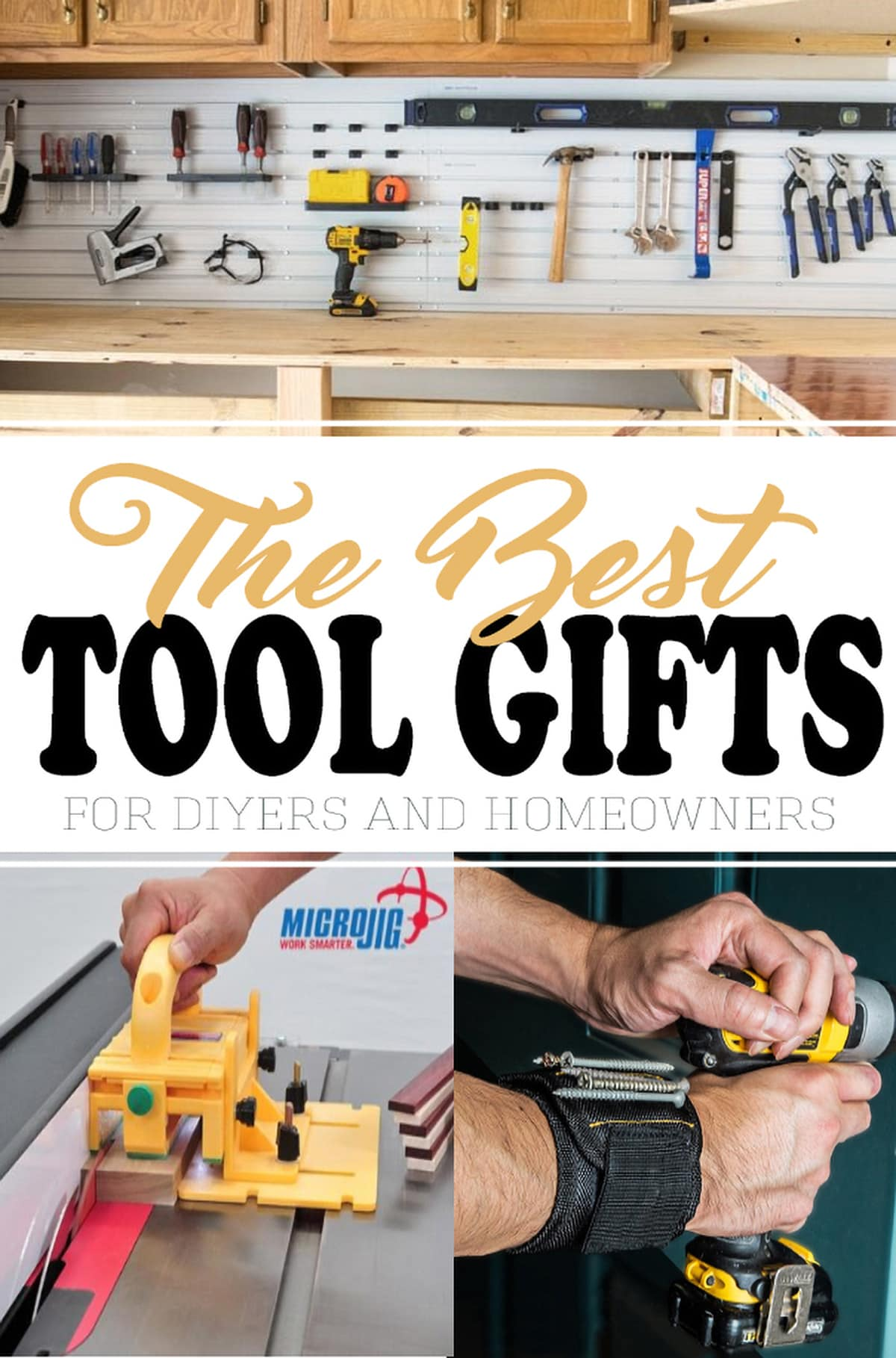 Gift Ideas for homeowners, handyman, and DIYers. Our community of DIYers put together this list of the most useful and affordable tools that any home owner would love to have!