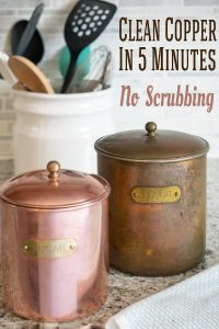 Copper is a lovely addition to a home's decorating style or cookware, but I was hesitant to bring out my grandmother's heavily tarnished copper canisters for cleaning until I learned about this genius trick!