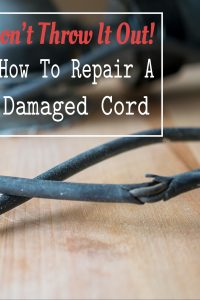 How To Repair an Electrical Cord