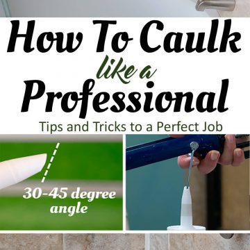 The definitive guide to caulking a bathtub or shower like a pro. Follow these caulking tips and tricks (with photos and video) for a perfect caulk job that will last for years!