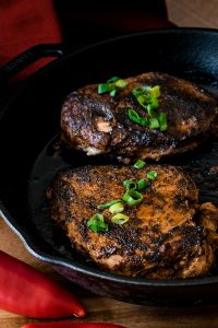 Blackened Chicken Recipe- Cajun spices mix together with a special cooking technique for blackening to make a chicken breast that is bold and juicy.