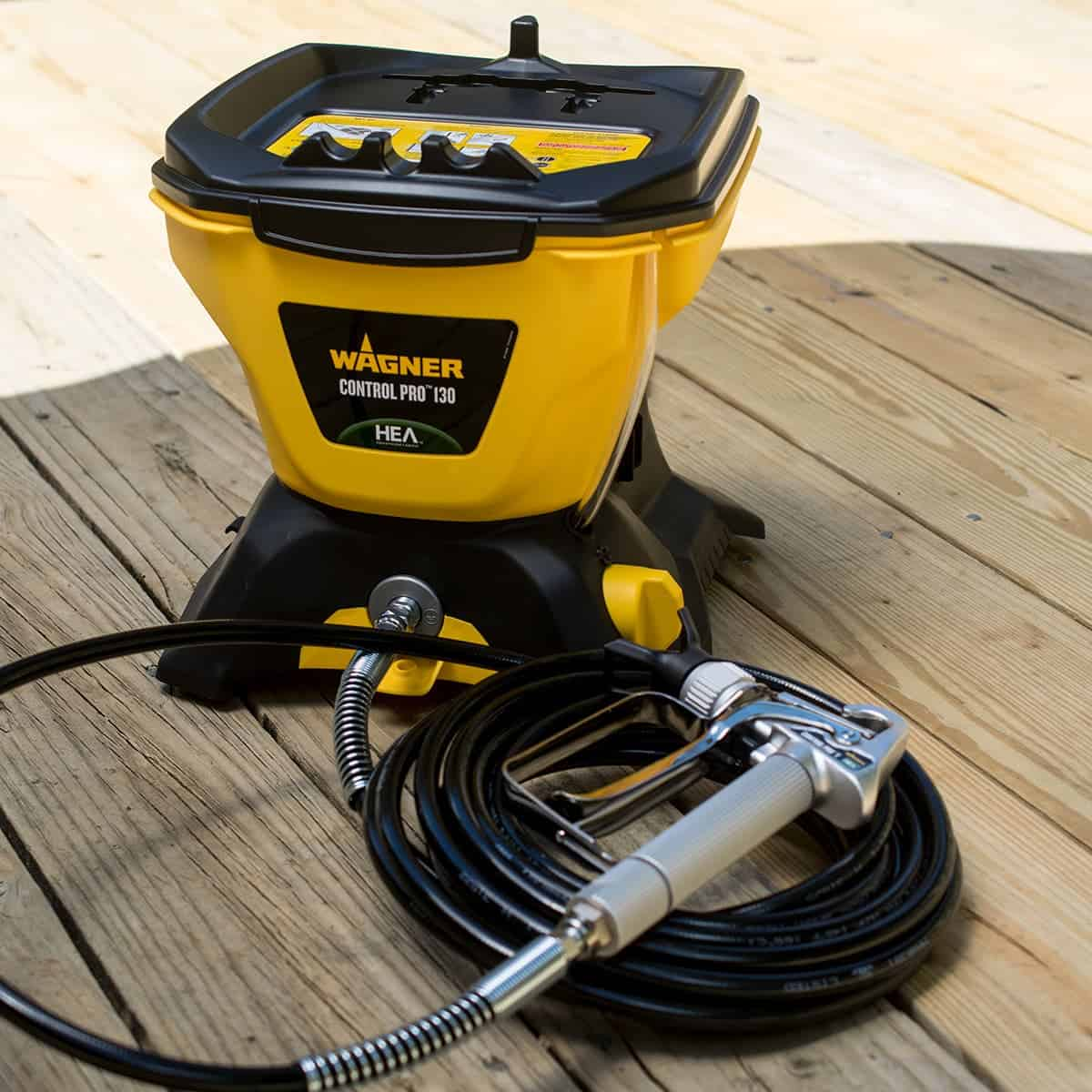 Wagner Control Pro 130 Paint Sprayer for staining deck.