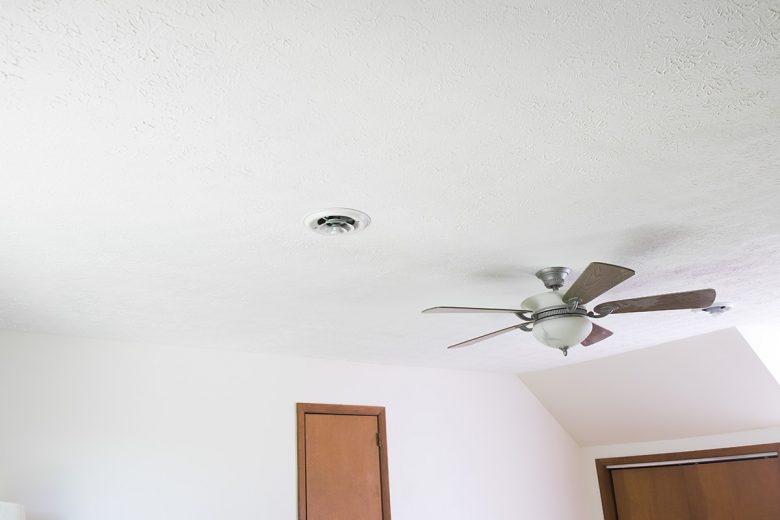 Painting a textured ceiling