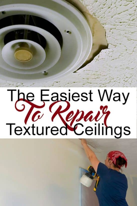 How To Repair Textured Ceilings