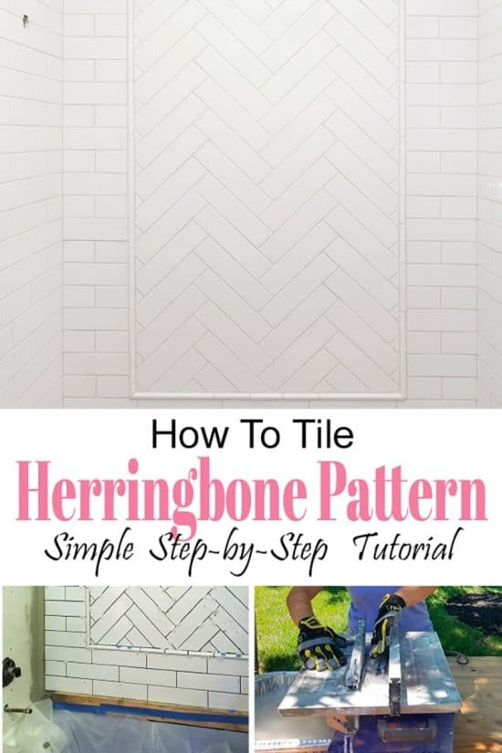 Love a herringbone pattern tile or wood, but worried it's not easy to create? It's no harder than other subway tile patterns with these simple tips to get started.