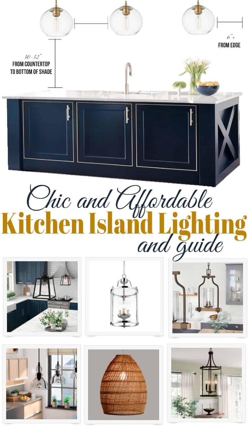 Chic and affordable kitchen pendant lights over island - kitchen island lighting ideas