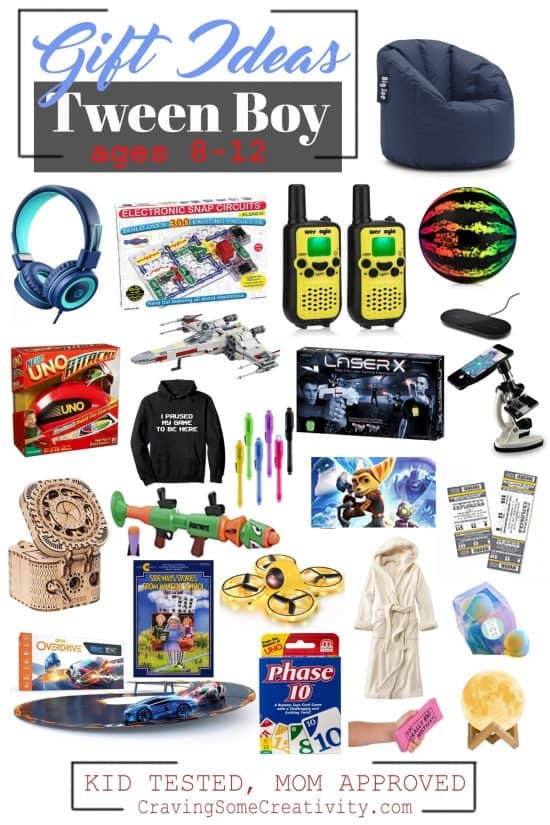 Best Gifts for Tween Boys for christmas and birthdays- our gift guide to gifts for around 10 year old boys with ideas from real moms of tween boys.