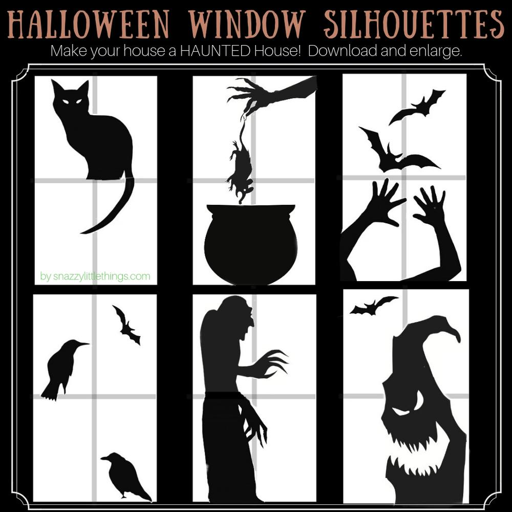 Halloween window clings for haunted house Halloween decor.