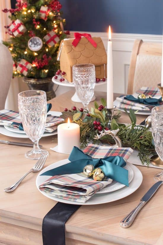 Plaid Christmas Decorations - table decor