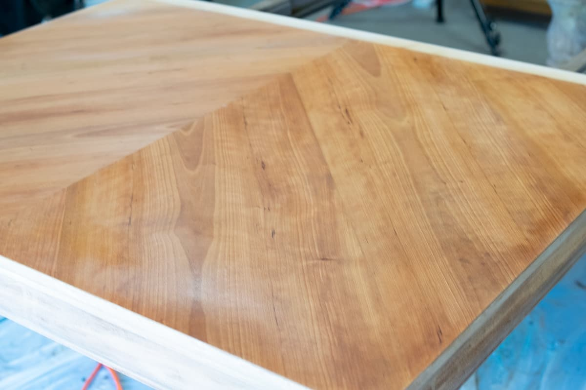 Bleaching Raw Wood Table