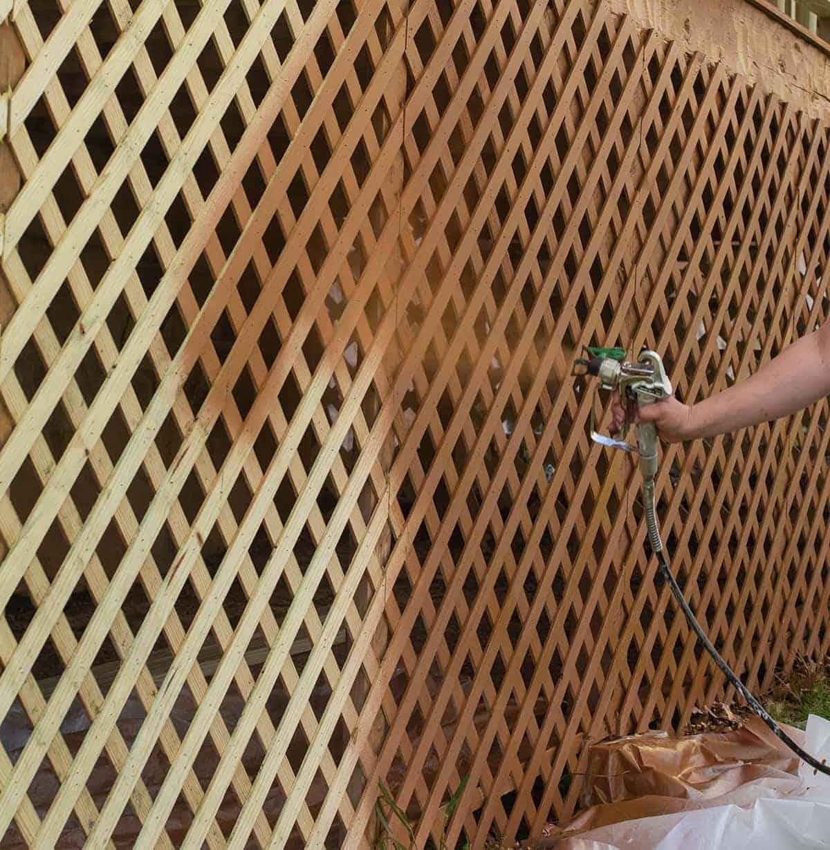 How to Paint Lattice the Easy Way