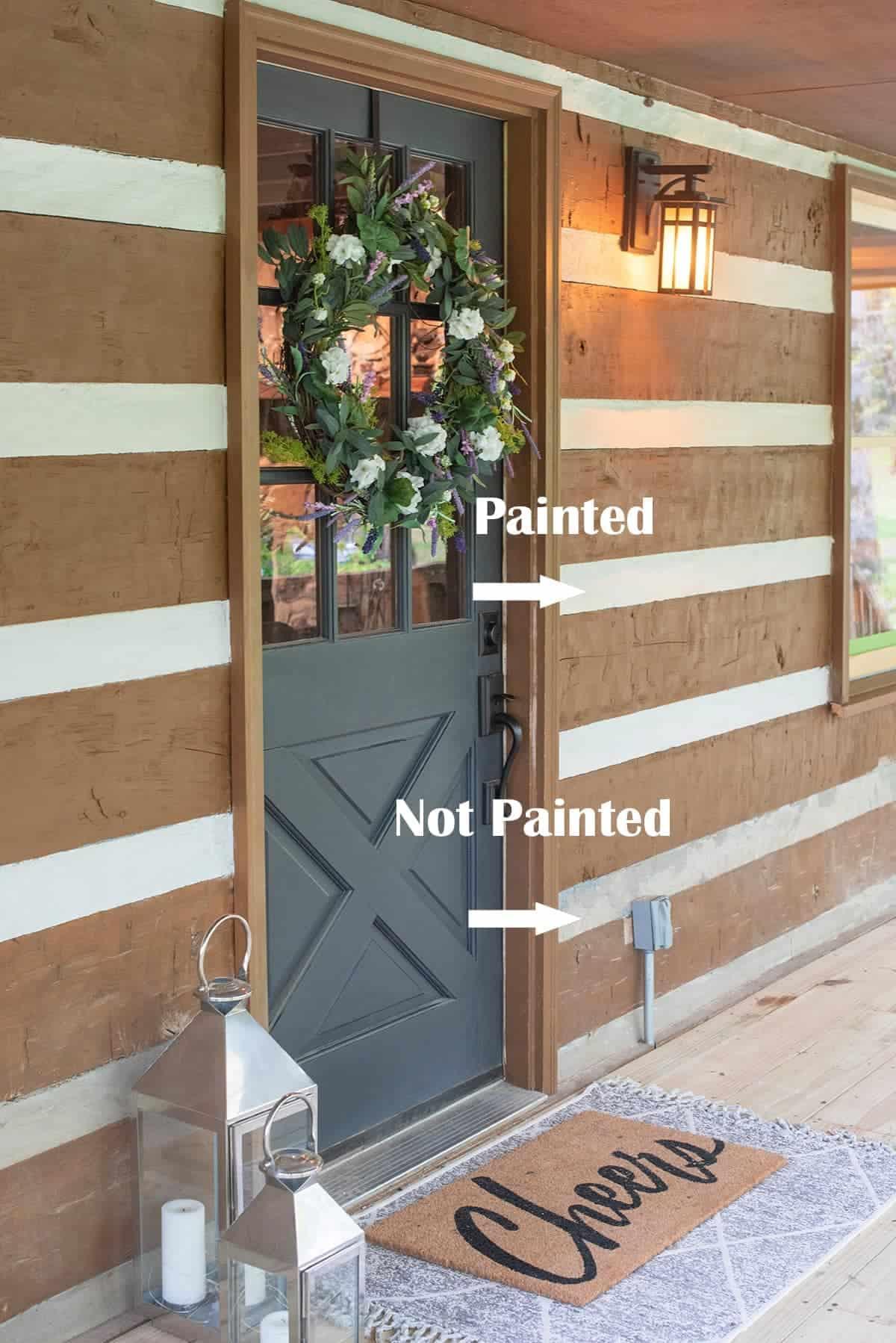 Paint vs unpainted exterior mortar