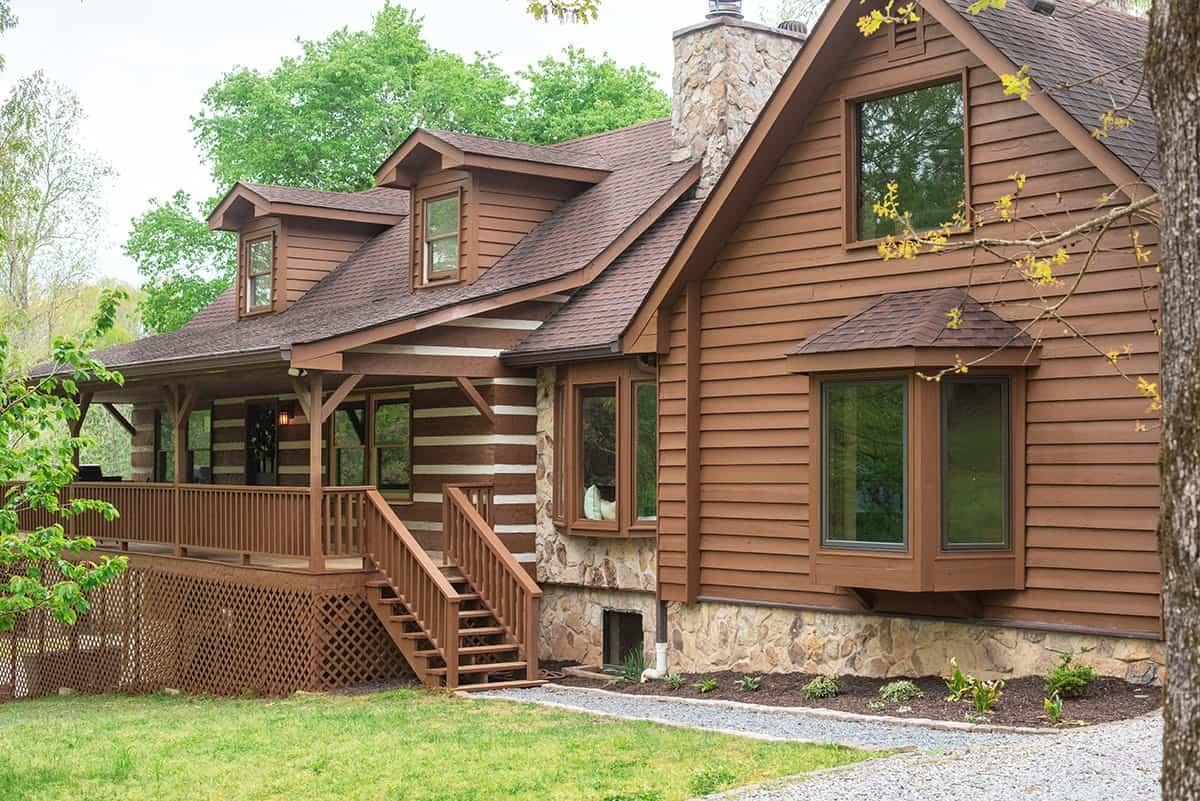 Rustic Craftsman Log Cabin House Modern