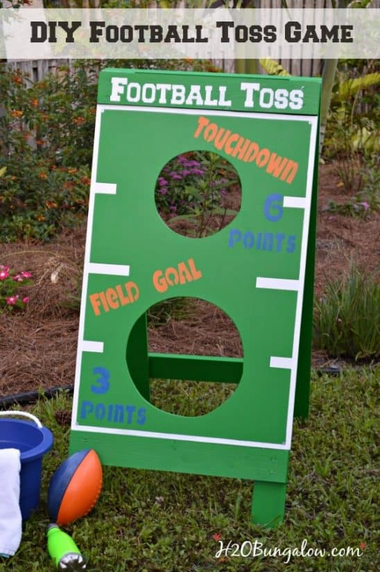 DIY football toss game
