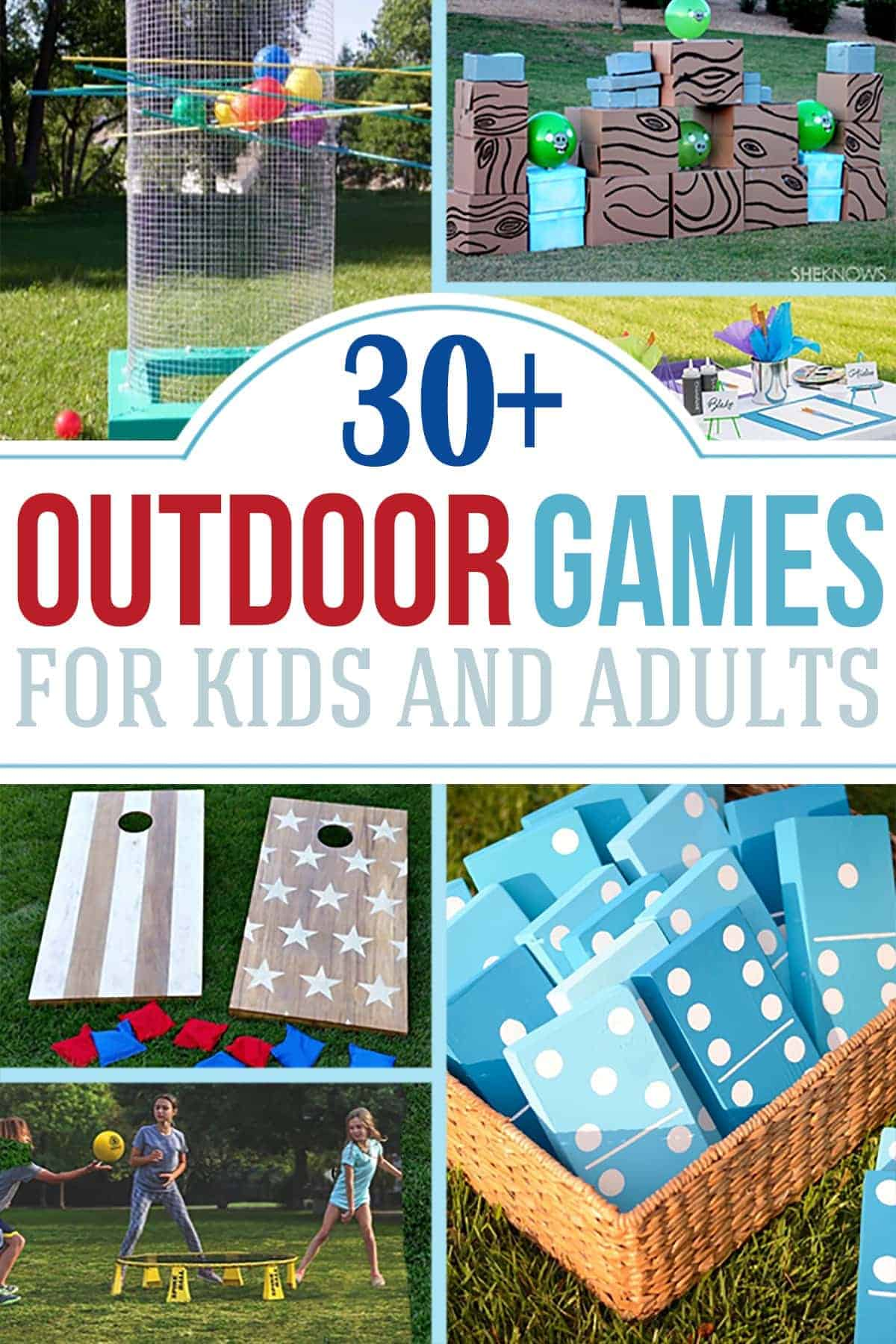 Outdoor Party Games, backyard games, summer fun, summer games, play outside
