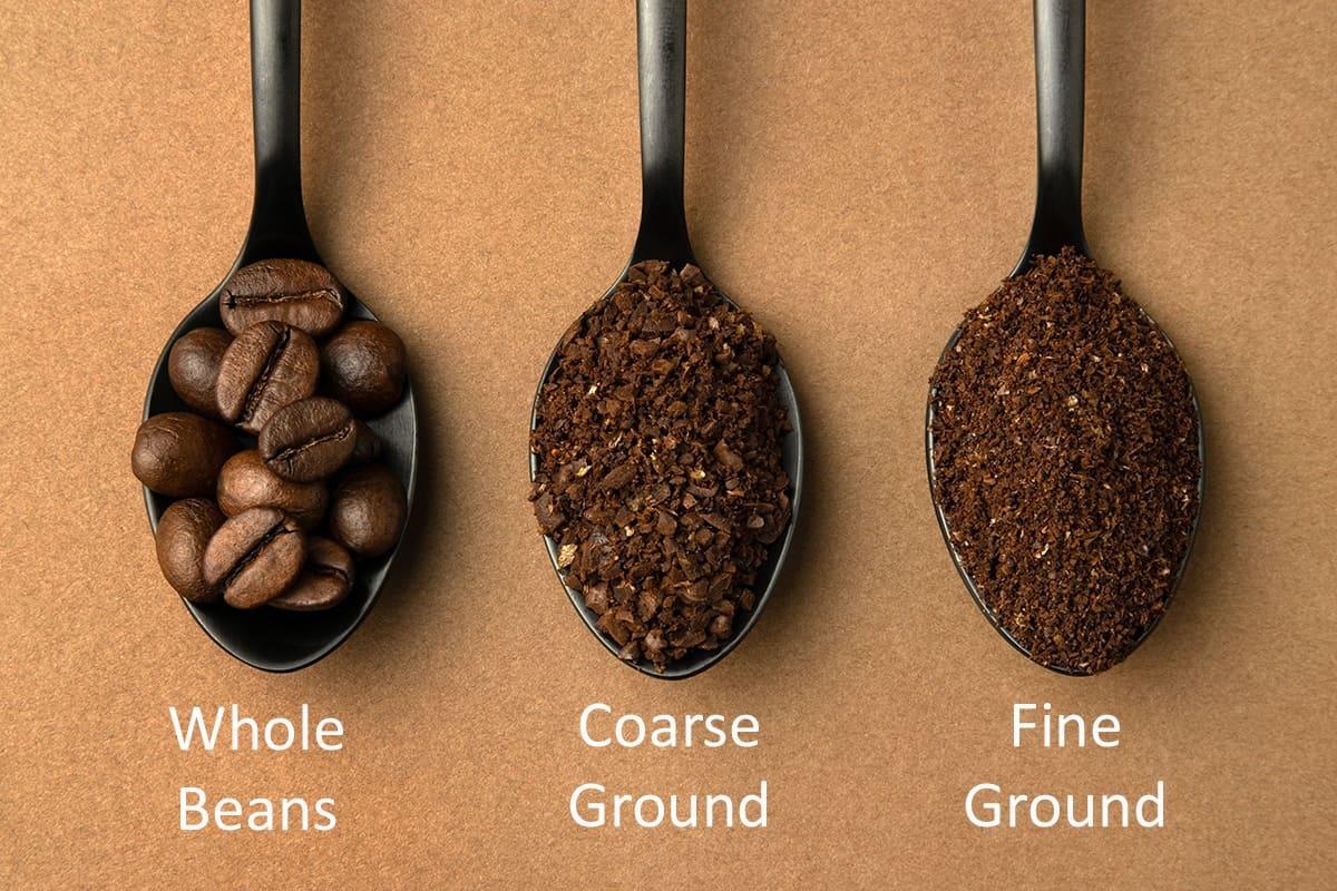 Coarse Ground Coffee Comparison with Fine Ground Coffee.