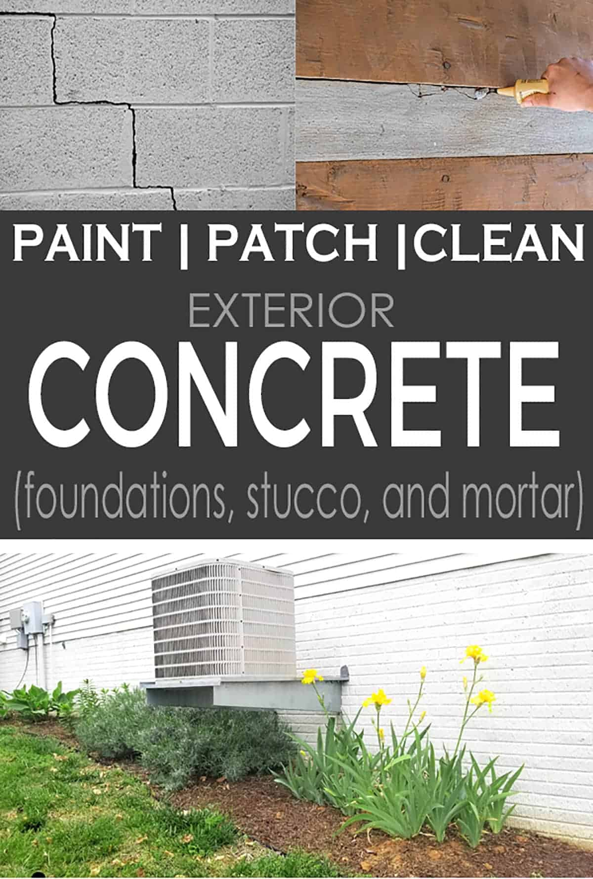 How to Paint Exterior Concrete, Stucco, and Brick Foundations